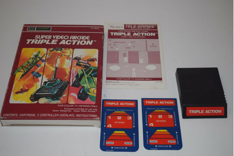 TRIPLE Action Intellivision INTV Game Cartridge COMPLETE ...