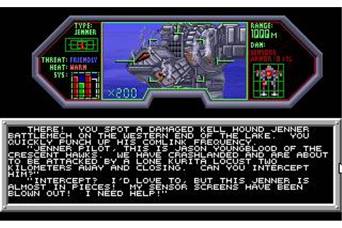 Battletech 1: The Crescent Hawks' Inception Download (1988 ...