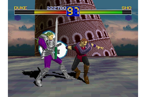 Battle Arena Toshinden (1995) by Tamsoft PS game