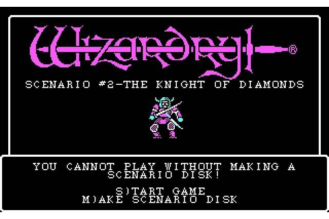 Sir-tech Software released Wizardry 2: The knight of ...