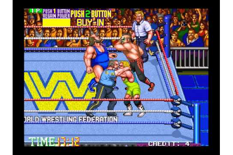 WWE (WWF) WrestleFest 1991 Arcade Game - Royal Rumble ...