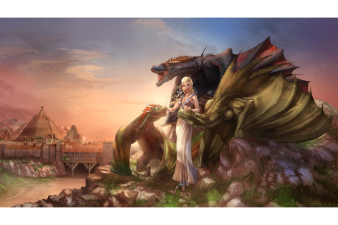 Daenerys Targaryen, Game Of Thrones, Dragon, Fantasy Art ...