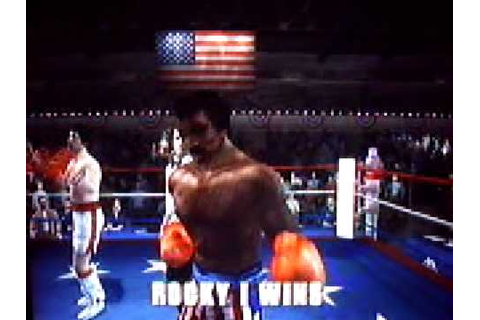 Rocky Balboa game (NGC) Vs Apollo Creed1st - YouTube