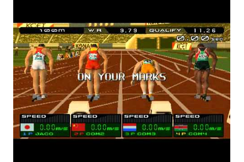international track & field 2000 psx (100 metros planos ...