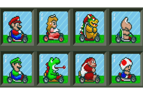 Super Mario Kart - All Characters - YouTube