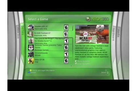 Xbox 360 Kiosk Demo Disc v2.0 Clips - Blade Interface ...