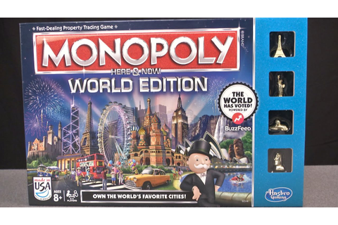 Monopoly Here & Now World Edition from Hasbro - YouTube