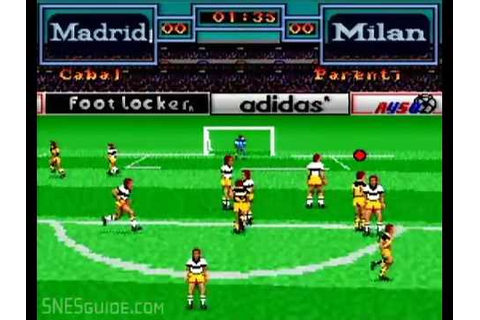 Tony Meola's Sidekicks Soccer - SNES Gameplay - YouTube