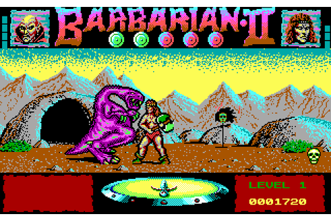 Barbarian II: The Dungeon of Drax (1989) MS-DOS game