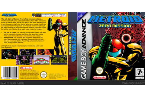 Metroid: Zero Mission Game Boy Advance Box Art Cover by ...
