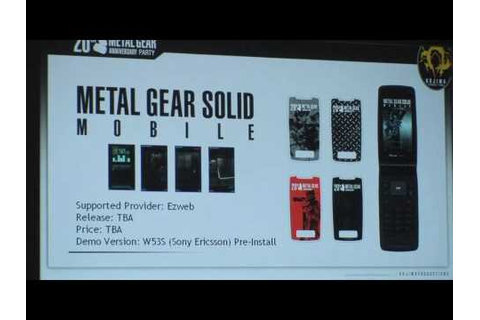 Metal gear solid mobile game - YouTube