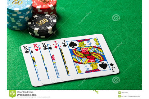 Full house poker game stock photo. Image of play, coin ...