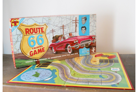hit the road Route 66 board game 1962 based on hit TV