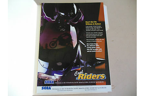 COOL RIDERS SEGA ARCADE GAME FLYER | eBay