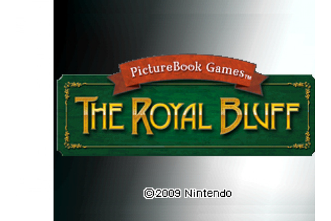 PictureBook Games: The Royal Bluff Review - DSiWare ...
