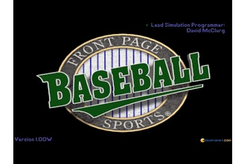Front Page Sports: Baseball Pro '95 gameplay (PC Game ...