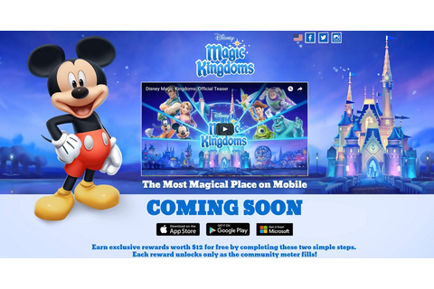 Disney's new Magic Kingdom game teaser site launches ...