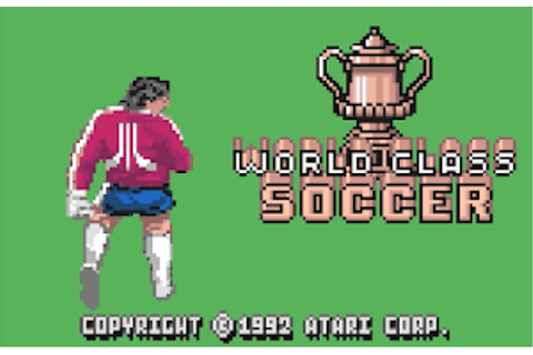 World Class Fussball/Soccer - Atari Lynx | Atari Gamer
