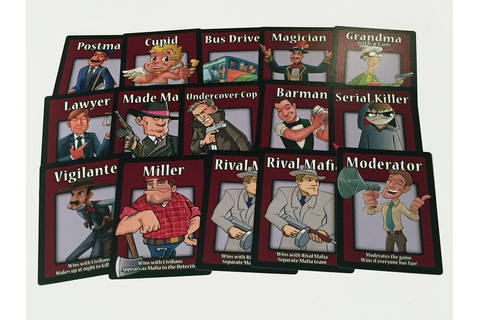 Mafia The Party Game 38 Counts Cards Set For Mafia Playing ...