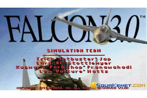 Falcon 3.0 gameplay (PC Game, 1991) - YouTube
