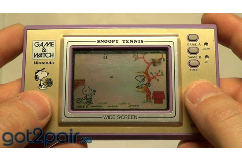 SNOOPY TENNIS SP-30 - Nintendo Game & Watch - YouTube