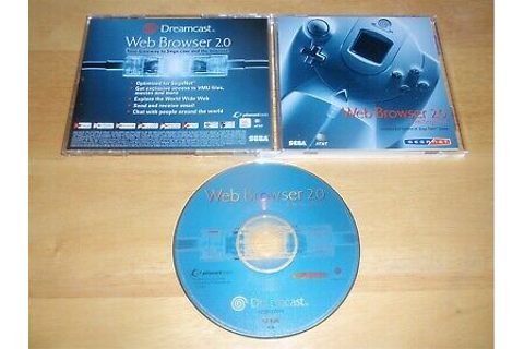 Sega Dreamcast Web Browser 2.0 Disc (GD-ROM) with SegaNet ...