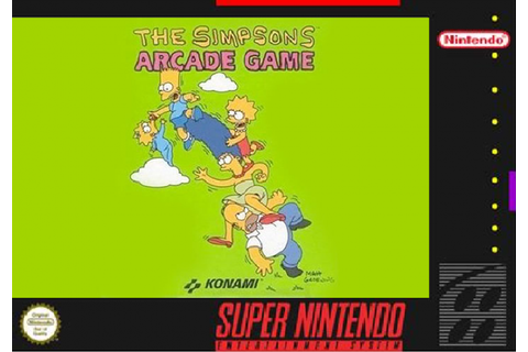 The Simpsons Arcade Game SNES Box Art Cover by Da_Kool_Dood