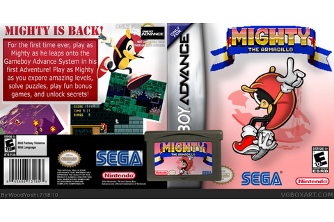 Mighty The Armadillo Game Boy Advance Box Art Cover by ...