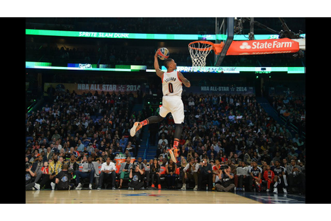 Damian Lillard Drops the 360 Double-Clutch Dunk - YouTube