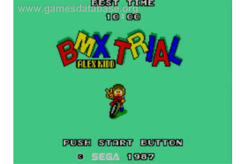 Alex Kidd: BMX Trial - Sega Master System - Games Database