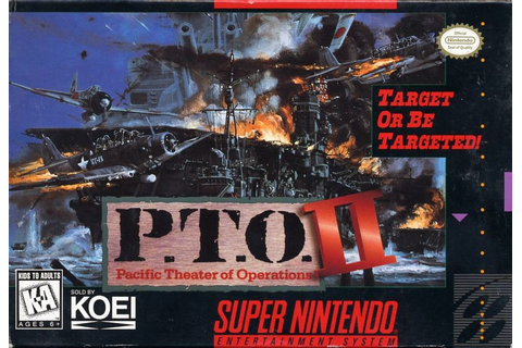 P.T.O.: Pacific Theater of Operations II (1995) SNES box ...