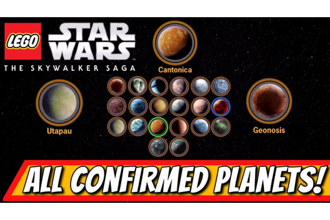 All NEW Lego Star Wars: Skywalker Saga Free Roam PLANETS ...