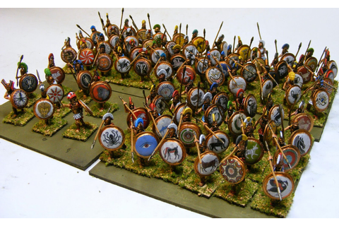 Evil Bob's Miniature Painting: 28mm Greek Hoplites
