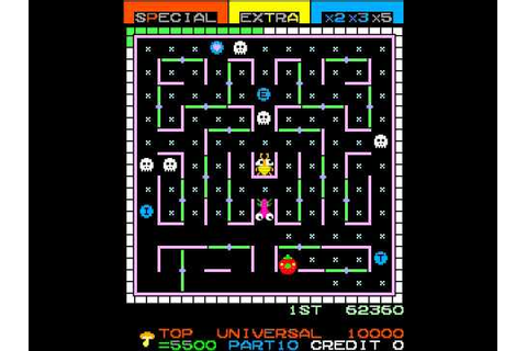 Arcade Game: Lady Bug (1981 Universal) - YouTube