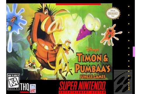 Timon and Pumbaa's Jungle Games SNES Super Nintendo