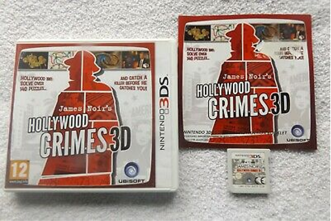 JAMES NOIR'S HOLLYWOOD CRIMES 3D NINTENDO 3DS V.G.C. FAST ...