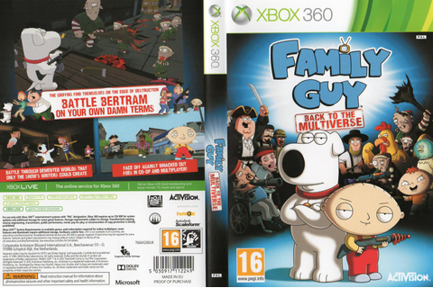 Capa Family Guy Back To The Multiverse Xbox 360 ...