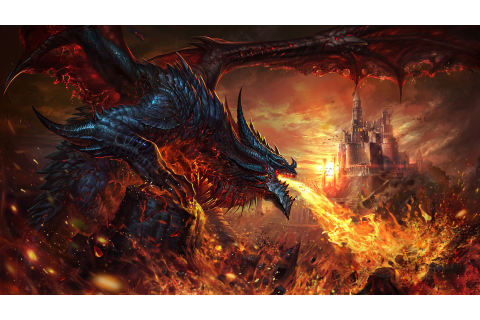 Dragon, Fire Breath, Fantasy, 4K, #73 Wallpaper