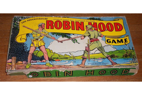 1938 Antique Board Game- Adventures of Robin Hood Game ...