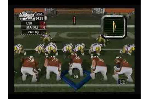 NCAA Gamebreaker 2001 Gameplay Footage - YouTube