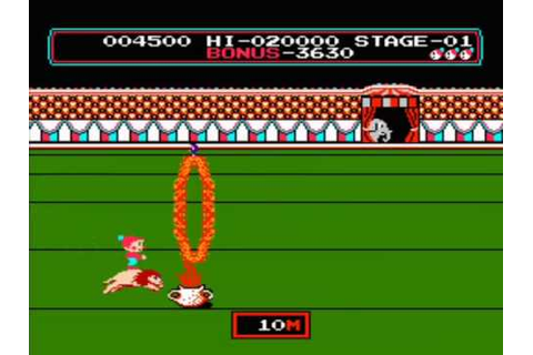 Nes - Circus Charlie (1986) - YouTube