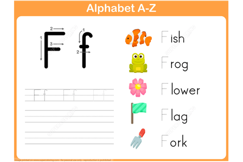 Letter F Tracing Worksheet | Free Printable Puzzle Games