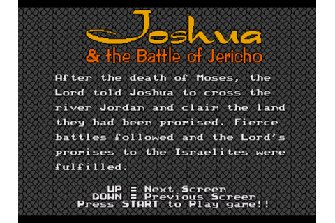 Joshua & The Battle of Jericho (USA) (Unl) ROM