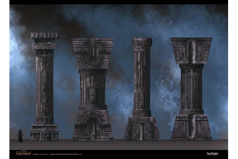 video game pillar. Love the concept art of these pillars ...