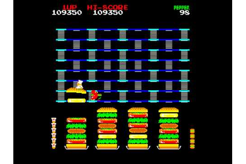 Arcade Game: Burger Time (1982 Data East) (DECO Version ...