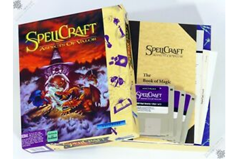 "PC IBM SPELLCRAFT ASPECTS OF VALOR BIG BOX 3.5"" VINTAGE ..."