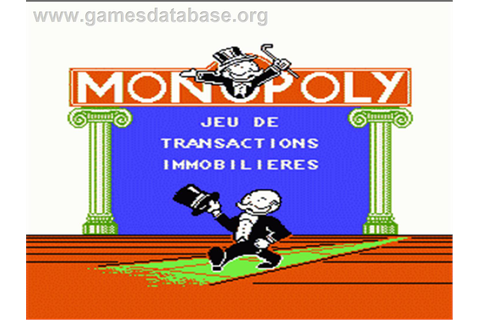 Monopoly - Nintendo NES - Games Database