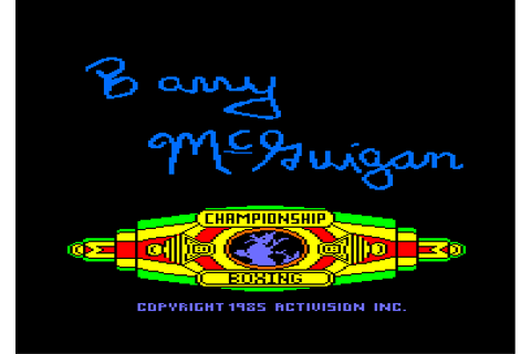 barry mcguigan world championship boxing © activision (1985)
