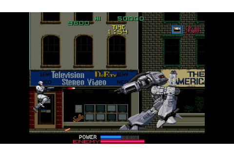 RoboCop-The Arcade Game Playthrough - YouTube