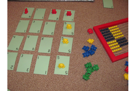 My Two Happy Homeschoolers: Row and Columns Game--Math